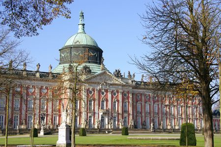 The new palace in the sanssouci park in Potsdam in Germany