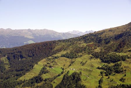 fuegen: A view at the austrian Alps Stock Photo
