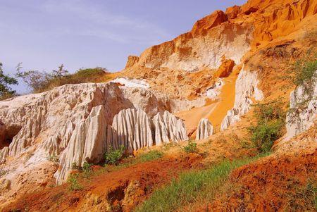 ne: The Ham Tien canyon near Mui Ne in Vietnam