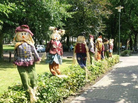 lookalike: Scarecrows of straw Stock Photo