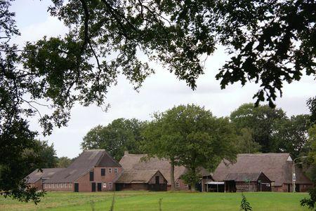 A farmhouse with barns Stock Photo - 5896760