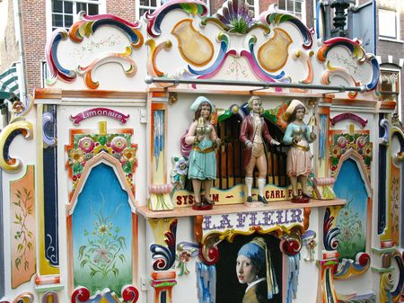 ornamentations: A beautiful decorated street organ