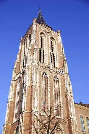 gorinchem: The tower of the great church in Gorinchem in the Netherlands