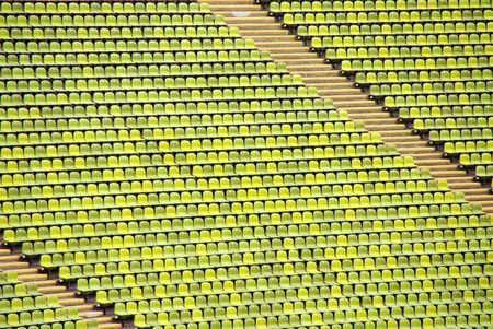 Green chairs in a stadium Stock Photo - 6241869