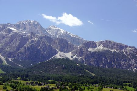 The Dolomite mountains in the north of Italy photo
