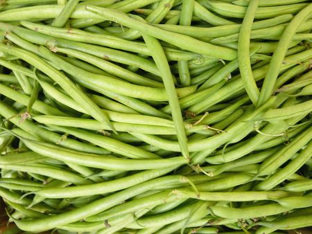 haricot vert: French beans at the greengrocer