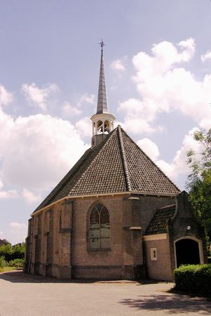 flakkee: The church of den Bommel in the Netherlands
