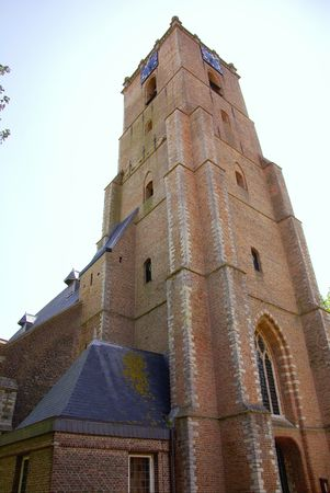 The tower of the church of Middelharnis in the Netherlands