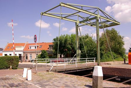 flakkee: A draw bridge over a canal