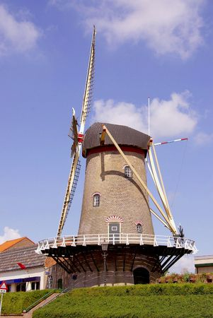 flakkee: The corn mill of Sommelsdijk in the Netherlands