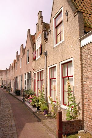 Houses in the old city Zierikzee in the Netherlands photo