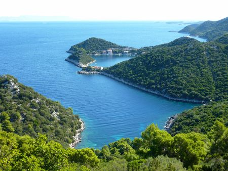View at a bay of the Croatian island Lastovo