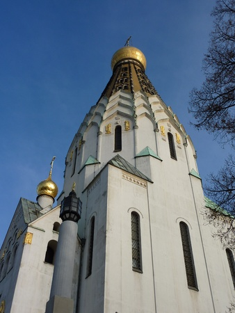 The saint alexi Russian orthodox church in Leipzig in Germany photo