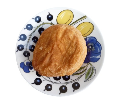 fritter: fritter of apple at a plate