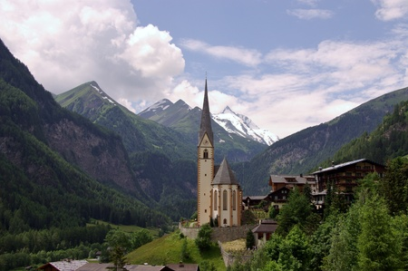 austrian: The gothic pilgrimage church of Saint Vincent in Heiligenblut in Austria
