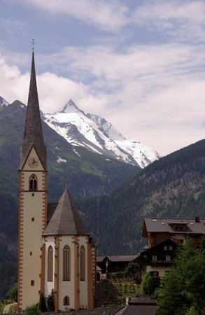 spittal: The gothic pilgrimage church of Saint Vincent in Heiligenblut in Austria