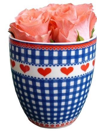 Rosas en una Copa con corazones Foto de archivo - 8688035