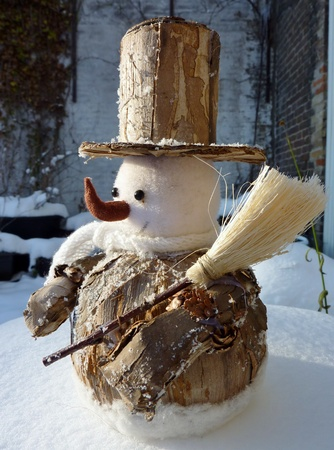 A snow man as a christmas decoration