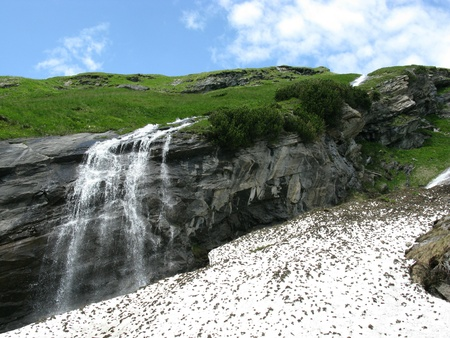 Landscap of the Grossglockner route in the Austrian Alps photo