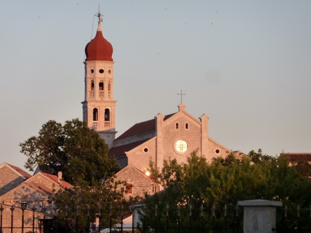 The church of Betina at the island Murter in Croatia photo