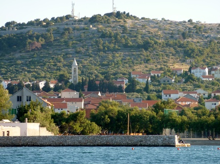 The village Betina at the island Murter in Croatia photo