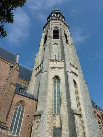 Abbey tower long John in Middelburg on Walcheren in the Netherlands photo