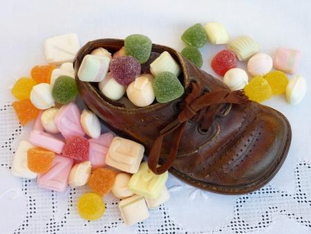 bondad: Caramelos de dulce de Sinterklaa una celebración típica holandesa Foto de archivo