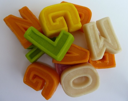 characterizing: Colorful characters of marzipan