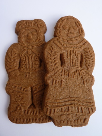 season specific: Dolls of speculaas at Sinterklaas a typical dutch celebration
