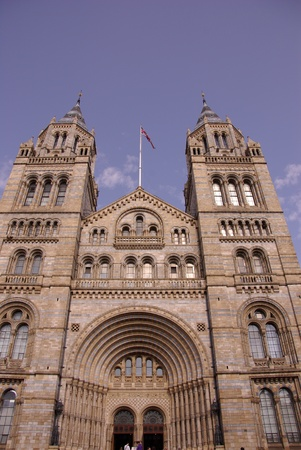 popular science: The historic waterhouse building in Kensington in London  accommodating the natural history museum Stock Photo