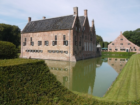 The Menkemaborg a castle in Uithuizen in the Netherlands photo