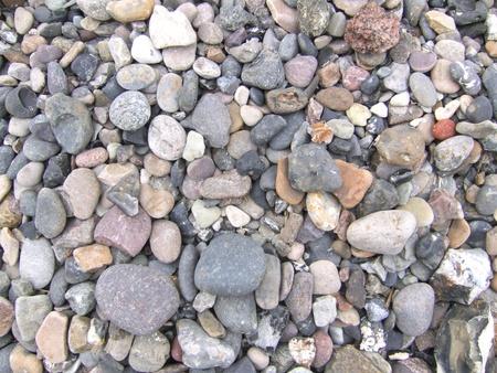 silica: Ciottoli o mattoni di silice sulla spiaggia