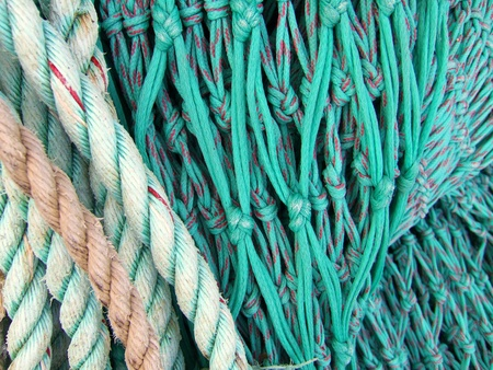 Colorful fishing nets photo