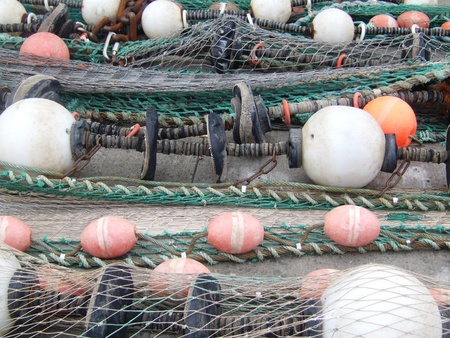 Floaters and fishermen nets photo