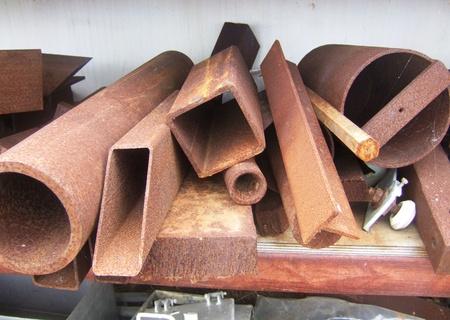corroding: Corroding iron in a scrapyard