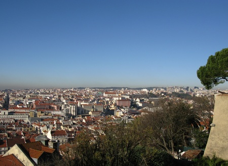 Panorama of Lisbon the capital city of Portugal photo