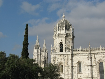 elaborate: The Hieronymus monastery in Belem a district of Lisbon in Portugal