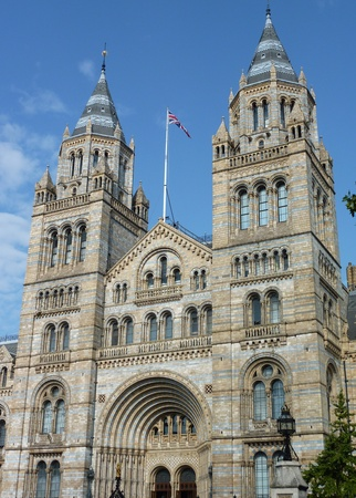 accommodating: The historic waterhouse building in Kensington in London  accommodating the natural history museum Stock Photo