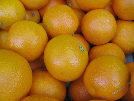 Oranges at the greengrocer Stock Photo - 12186532