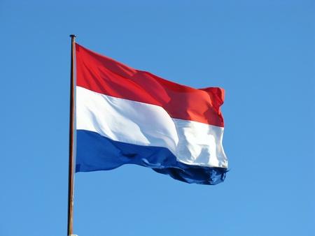 De Nederlandse vlag het symbool voor Nederland Stockfoto