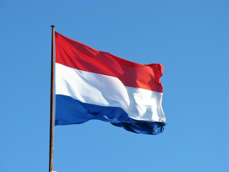 netherlands flag: The Dutch flag the symbol for the Netherlands Stock Photo