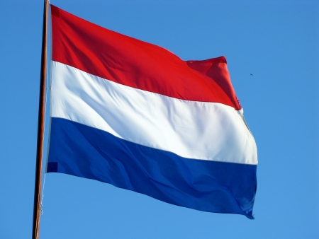 The Dutch flag the symbol for the Netherlands Stock Photo - 12186435