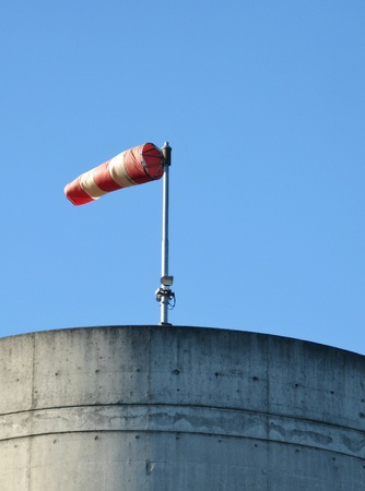 cone shaped: A cone shaped sleeve as a wind direction indicator