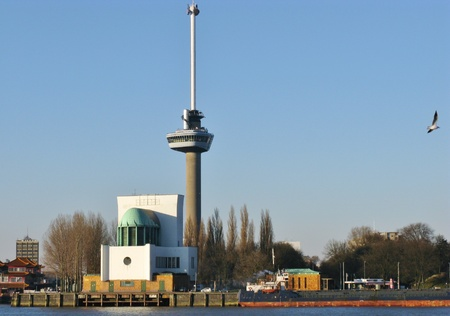 The Euromast along the river Meuse in Rotterdam Stock Photo - 12405702