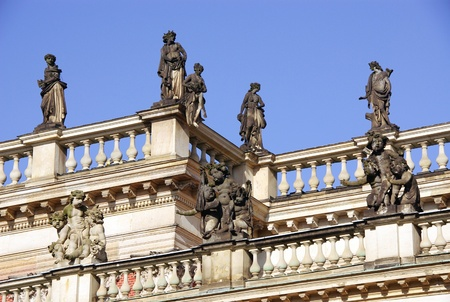 A detail of the new palace in the Sans souci park in Potsdam in Germany photo