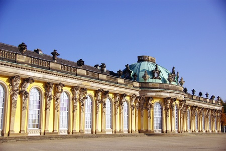South or garden facade of the summer palace in the sanssouci royal park photo