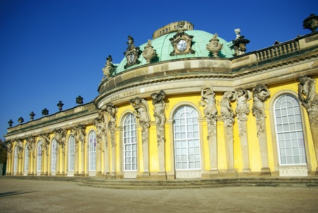 South or garden facade of the summer palace in the sanssouci royal park