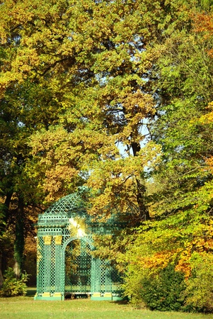 The trelised gazebo in the sans souci garden in Potsdam in Germany photo