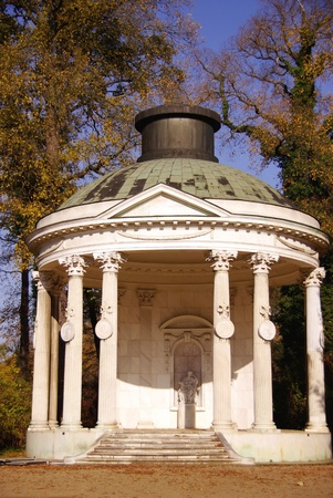 The temple of friendship in the garden of sans souci in Potsdam in Germany photo