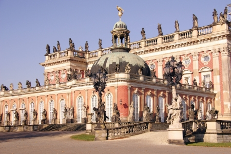 New palace in the sanssouci royal park in Potsdam in Germany Stock Photo